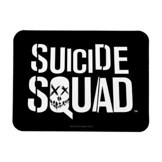Suicide Squad   White Logo Rectangular Photo Magnet