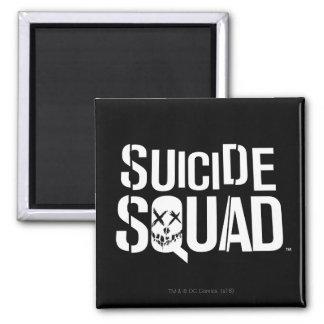 Suicide Squad   White Logo Square Magnet