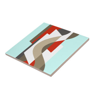 SUISSE: Art Deco Moderne: Sixties Office, Mad Men Small Square Tile