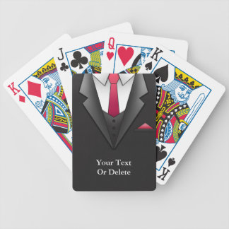 Suit Businessman Playing Cards