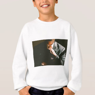 Suit businessman tie shadow effect sweatshirt