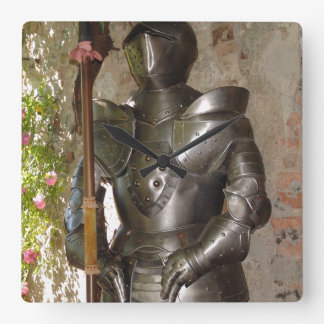 Suit of Armor Square Wall Clocks
