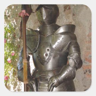 Suit of Armor Square Sticker