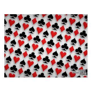 Suit Spades Hearts Clubs Diamonds Background Postcard