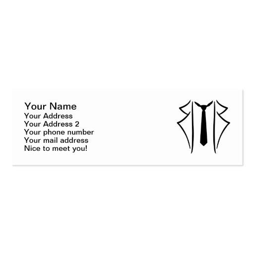 Suit tuxedo tie business card template