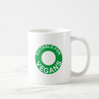 suitable for vegans coffee mug