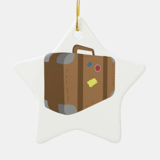 Suitcase Ceramic Star Decoration