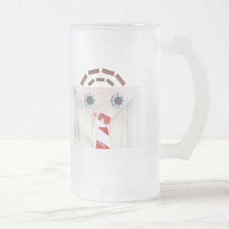 Suitcase Man Frosted Jug Frosted Glass Beer Mug