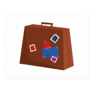 Suitcase Postcard