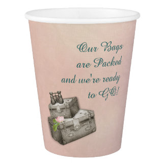 Suitcases Paper Party Cups
