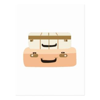 Suitcases Postcard