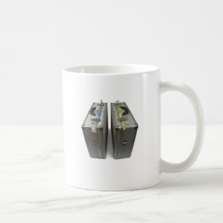 suitcases with money coffee mug