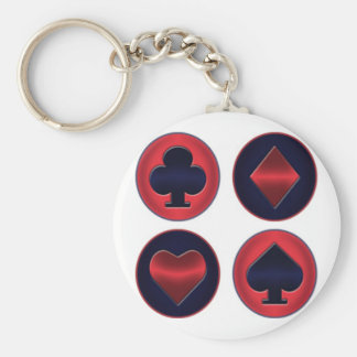 Suited Poker Basic Button Keychain