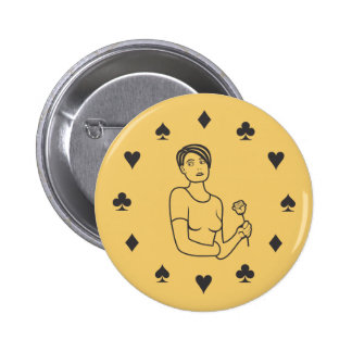Suits of Cards Girl 6 Cm Round Badge