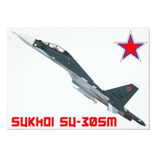 Sukhoi Su-30SM Flanker-C Russian Air Force 13 Cm X 18 Cm Invitation Card