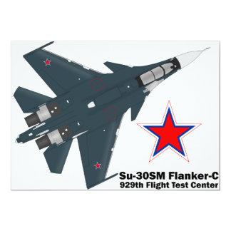 Sukhoi Su-30SM Flanker-C VKS 13 Cm X 18 Cm Invitation Card