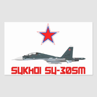 Sukhoi Su-30SM Russian Air Force VKS Rectangular Sticker