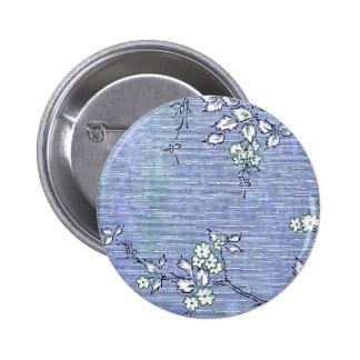 Suki Vintage Wall Paper Pinback Buttons