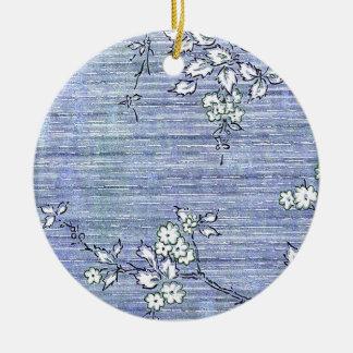 """Suki"" Vintage Wall Paper Round Ceramic Decoration"