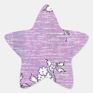 """""""Suki"""" Vintage Wallpaper - Purple Star Sticker"""