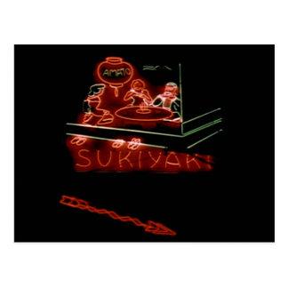 Sukiyaki, 1930's San Francisco Chinatown Neon Sign Postcard