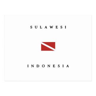 Sulawesi Indonesia Scuba Dive Flag Postcard