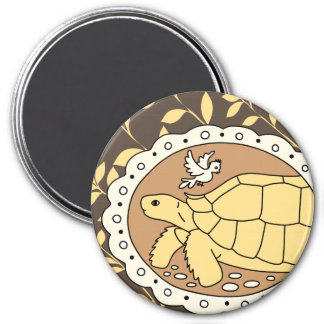 Sulcata Tortoise Magnet (brown oval)