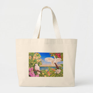 Sulfer-crested Cockatoos Large Tote Bag