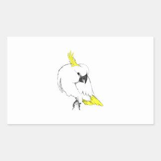 Sulfer Cuckatoo Rectangle Sticker