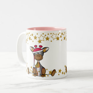 Sulk Christmas hopped and festively with lief Two-Tone Coffee Mug