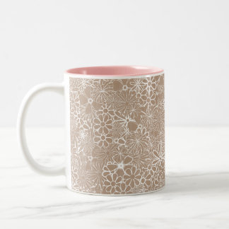 Sulk - paperboard garlic with flowers Two-Tone coffee mug