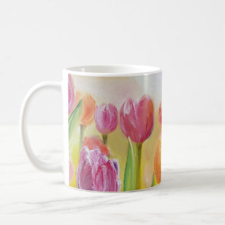 Sulk tulips splendid flowers coffee mug