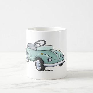 Sulk with pretty beetle blue coffee mug