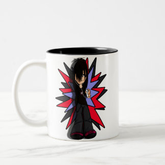 sulky teenager Two-Tone mug