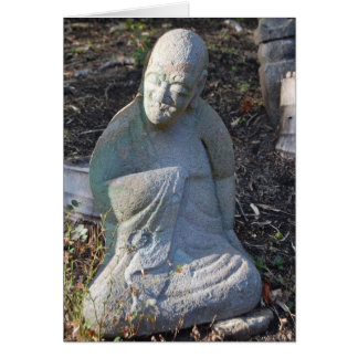 Sullen Monk Greeting Card