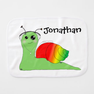 Sullivan la Snail loves music: Reggae Burp Cloth