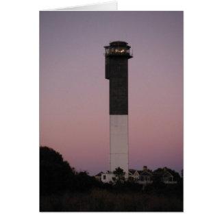 Sullivan's Island Lighthouse at Sunset Card