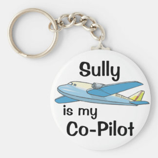 Sully Is My Co-Pilot Basic Round Button Key Ring