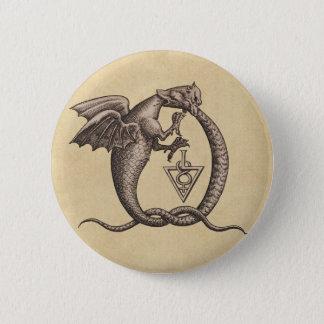 Sulphur and Mercury Dragons 6 Cm Round Badge
