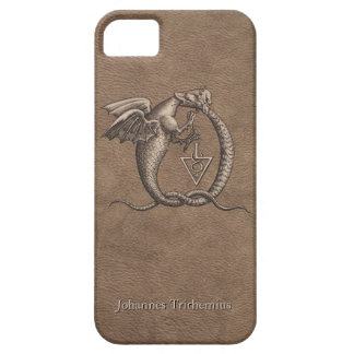 Sulphur and Mercury Leather Personalised Barely There iPhone 5 Case