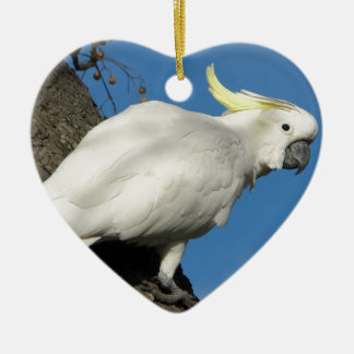 Sulphur crested cockatoo ceramic ornament