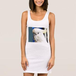 Sulphur Crested Cockatoo Ladies Singlet Tank Dress
