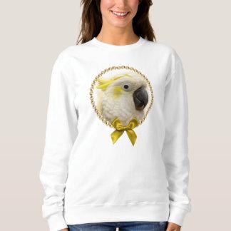 Sulphur Crested Cockatoo realistic painting Sweatshirt