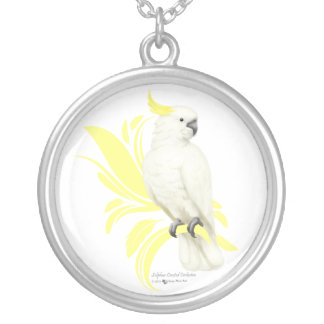 Sulphur Crested Cockatoo Silver Plated Necklace