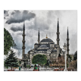 Sultan Ahmed Mosque - Istanbul Turkey Poster