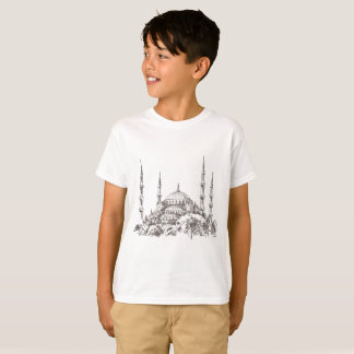 Sultan Ahmet Mosque White T-Shirt for Kids