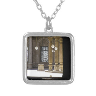 Sultan Ali mosque in Cairo Silver Plated Necklace