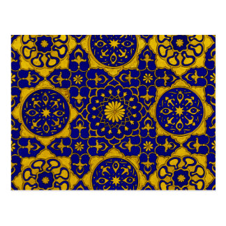 'Sultan Barquq' gold and lapis postcard