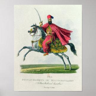 Sultan Mahmud II  1829 Poster
