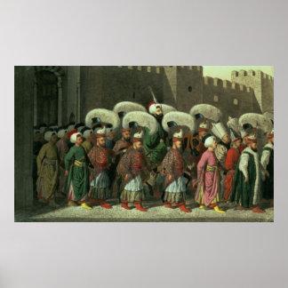 Sultan Mahmud II in Procession, 1809 Poster